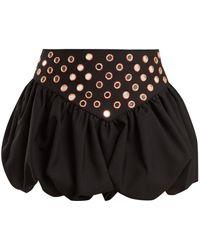 Saint Laurent - Bubble-hem Mini Skirt - Lyst