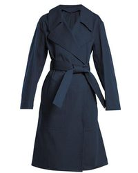 Lemaire - Oversized Cotton-twill Trench Coat - Lyst