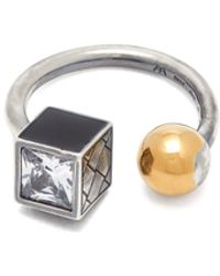 Bottega Veneta - Sterling Silver And Gold Plated Ball Ring - Lyst