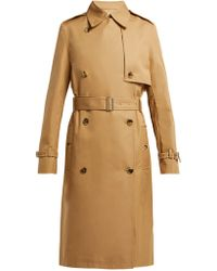 Paco Rabanne - Double Breasted Cotton Twill Trench Coat - Lyst