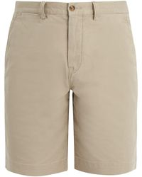 Polo Ralph Lauren - Mid-rise Straight-leg Cotton-blend Chino Shorts - Lyst