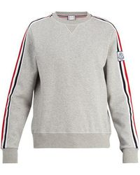 Moncler - Striped-sleeve Jersey Sweater - Lyst