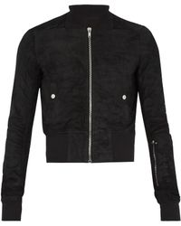 Rick Owens - Blister-leather Bomber Jacket - Lyst