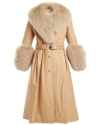 Saks Potts - Leather Coat With Fox Fur - Lyst