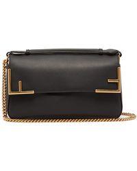 f0ca491b1b Lyst - Fendi Mini 3baguette Embellished Leather Cross-body Bag