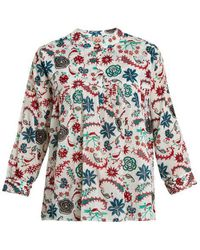 Le Sirenuse - Parsely Garden Cotton Top - Lyst