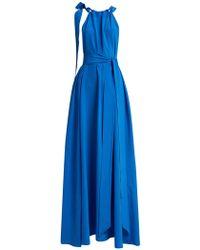 Kalita - Camille Gathered Silk Maxi Dress - Lyst