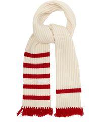 Prada - Fringed Wool-blend Scarf - Lyst