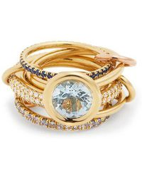 Spinelli Kilcollin - - Rana Diamond, Yellow Gold & Rose Gold Rings - Womens - Blue - Lyst