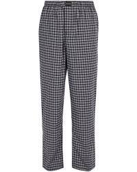 Balenciaga - Checked Cotton Trousers - Lyst