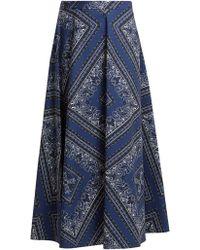 RED Valentino - Bandana-print Cotton Skirt - Lyst