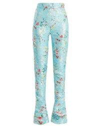 Halpern - Floral-jacquard High-rise Skinny Trousers - Lyst
