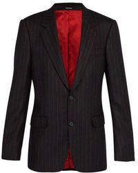 Alexander McQueen - Single-breasted Wool Pinstripe Blazer - Lyst