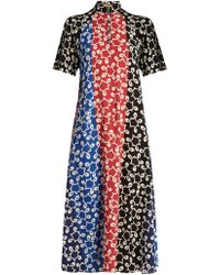 Duro Olowu - Nina Contrast-panel Crepe Dress - Lyst