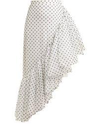 Rodarte - Asymmetric Polka-dot Ruffle Skirt - Lyst