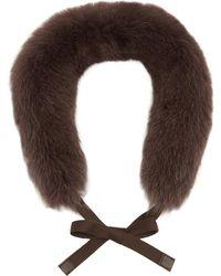 Max Mara - Uniion Fox Fur Collar - Lyst
