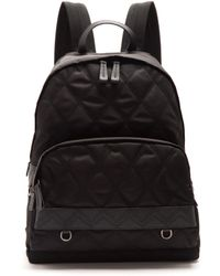 Prada - All Designer Products - Leather-trimmed Zip-around Quilted Backpack - Lyst