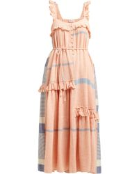 Apiece Apart - Lypie Tiered Ruffle Striped Cotton Maxi Dress - Lyst