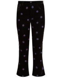 Jupe by Jackie - Magia Slim-leg Silk-velvet Trousers - Lyst