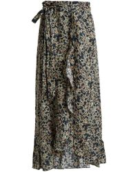 Étoile Isabel Marant | Alda Floral-print Wrap Skirt | Lyst