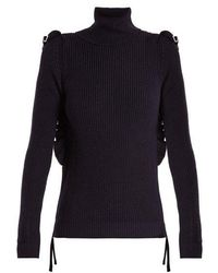 N°21 - Ruffle-trimmed Roll-neck Wool Jumper - Lyst