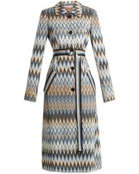 Missoni - Long Zigzag Print Coat - Lyst