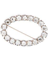 Isabel Marant - Oval Crystal Embellished Brooch - Lyst