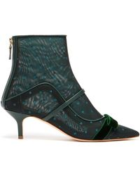 Malone Souliers - Claudia Mesh And Leather Ankle Boots - Lyst