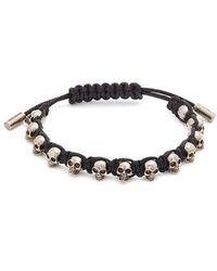 Alexander McQueen - Skull-embellished Cord Bracelet - Lyst