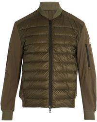 Moncler - Ariege Contrast Panel Quilted Down Jacket - Lyst