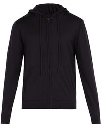 Sunspel - Zip-through Hooded Wool Sweatshirt - Lyst
