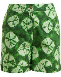 Stella Jean - Tie Dye Print Cotton Shorts - Lyst
