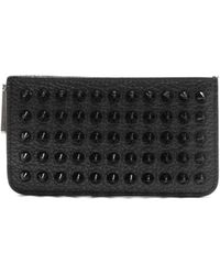 Christian Louboutin - Credilou Spike Embellished Leather Cardholder - Lyst