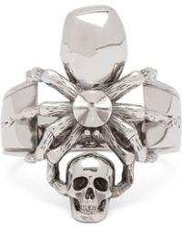 Alexander McQueen - Spider & Skull Ring - Lyst