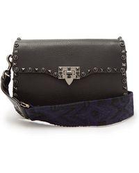 Valentino - Rockstud Rolling Leather Shoulder Bag - Lyst