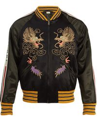 Gucci - Dragon Embroidered Bomber Jacket - Lyst