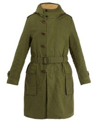 Gucci - Teddy Back Embroidered Hooded Cotton Parka Coat - Lyst