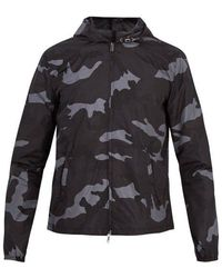 Valentino - Camouflage-print Hooded Shell Jacket - Lyst
