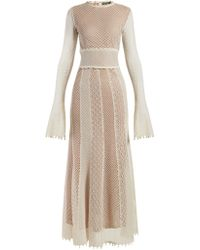 Alexander McQueen - Faux Pearl Trimmed Macramé Lace Gown - Lyst