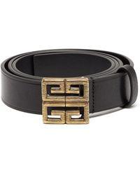 Lyst - Ceinture en cuir 4G Givenchy pour homme en coloris Noir c5b4b7afe52
