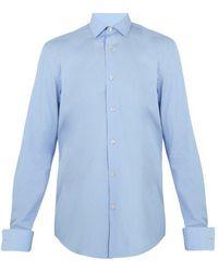 Paul Smith - Double-cuff Cotton-poplin Shirt - Lyst