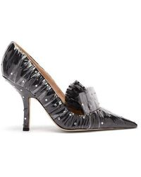 Carole Hochman - Crystal Embellished Tulle And Pvc Court Shoes - Lyst