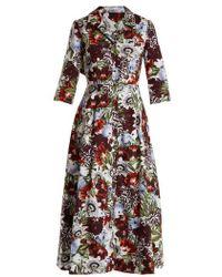 Erdem - Kasia Cotton-poplina Shirtdress - Lyst