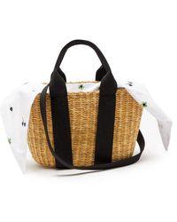 Muuñ - Caba Mini Woven-straw Basket Bag - Lyst