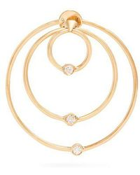 Delfina Delettrez - - Diamond & Yellow Gold Hoop Single Earring - Womens - Gold - Lyst