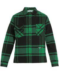 e6c2c15f8bb1 Off-White c o Virgil Abloh - Checked Cotton Blend Flannel Shirt - Lyst