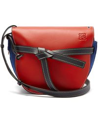 Loewe - Gate Leather And Felt Cross-body Bag - Lyst