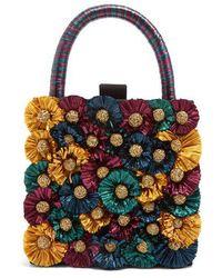 Sanayi 313 - Flora-embellished Twill Box Clutch - Lyst