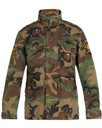 Polo Ralph Lauren - Camouflage Print Cotton Jacket - Lyst
