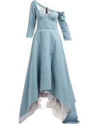 Natasha Zinko - Off The Shoulder Cotton Dress - Lyst